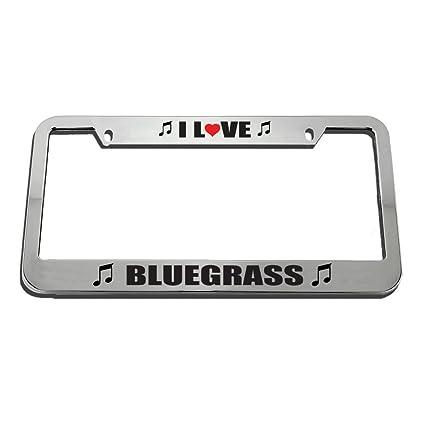 Amazon.com : KSLIDS I Love Bluegrass License Plate Frame Tag Holder ...