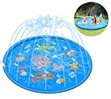 Kimi House 68inch Splash Play Mat,Sprinkler Pad,...