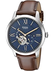 Fossil Mens ME3110 Townsman Automatic Brown Leather Watch