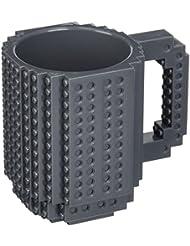 OliaDesign BPA Free Build On Brick Coffee Mug 12 Oz Gray