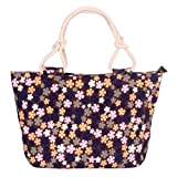 Swesy Fashion Women Printed Flower Shoulder Bag Canvas Handbag Top-Handle Bags