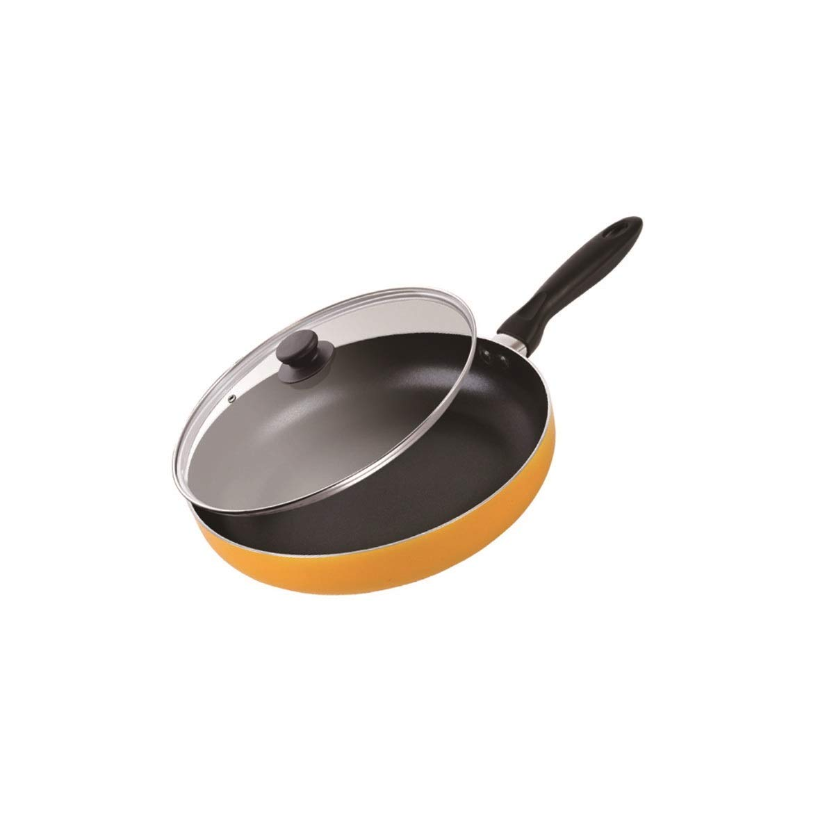 Hengtongtongxun Steak Frying Pan, Pan Not Sticky Less Fumes, Mini Frying Steak Special Pot, Strong and Sturdy (Size : 28cm)