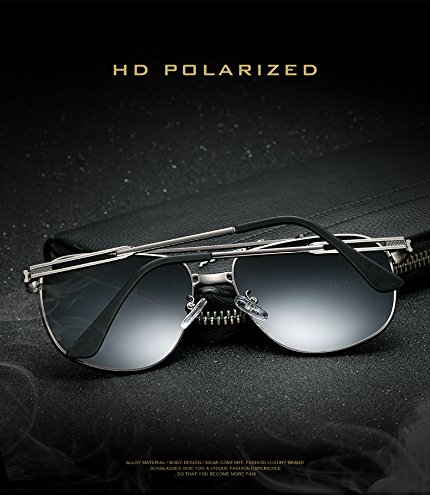 Sol Gafas UV400 Sol Espejo de Grandes Gafas para de Gafas Moda de Jusheng Sol Sol Vintage de de C5 Hombre Polaroid Gafas Color C3 FEpxq