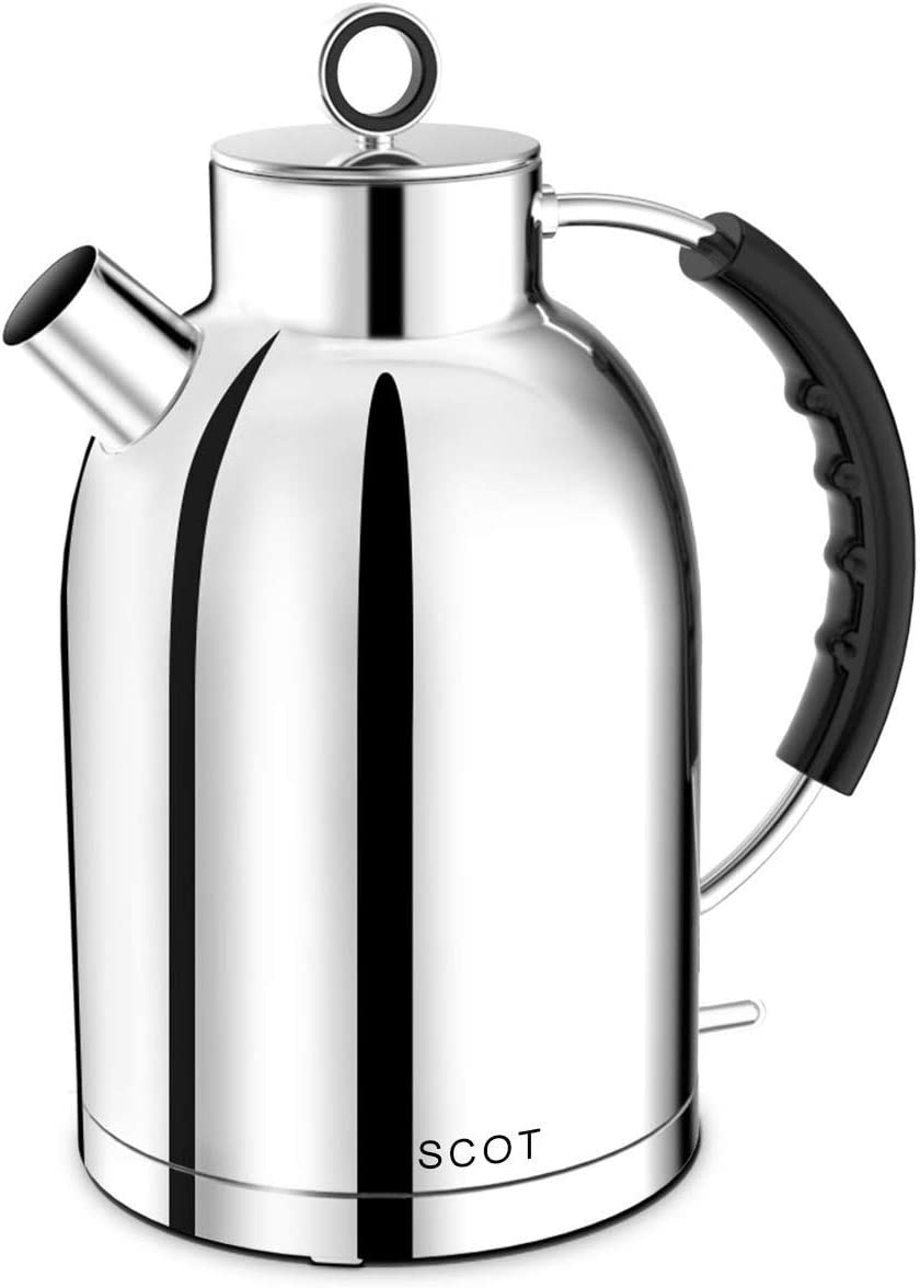 Electric Kettle Ascot Stainless Steel Electric Tea Kettle 1 7qt 1500w Bpa Free Cordless Automatic Shutoff Fast Quiet Boiling Water Heater Polished Silver Amazon Ca Home Kitchen