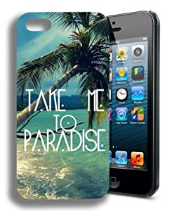 Take Me to Paradise Beach Cute Quote Iphone 4 Case