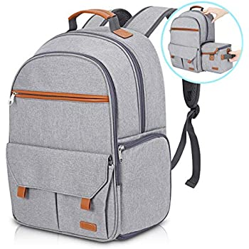 """Endurax Waterproof Camera Backpack for Women and Men Fits 15.6"""" Laptop with Build-in DSLR Shoulder Photographer Bag Gray"""