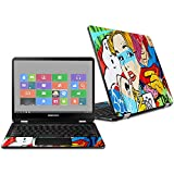 MightySkins Skin for Samsung Chromebook Pro 12.3'' - Cartoon Mania | Protective, Durable, and Unique Vinyl Decal wrap Cover | Easy to Apply, Remove, and Change Styles | Made in The USA