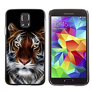 Stuss Case / Funda Carcasa protectora - Tiger Faceart Yellow Eyes Big Cat White Whiskers - Samsung Galaxy S5 SM-G900