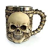 350ML Mug Cup Double Wall Stainless Steel 3D Skull Mugs Coffee Tea Bottle Mug Skull Knight Tankard Dragon Drinking Cup Kup Milk