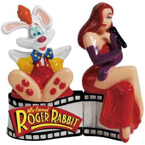 Westland Giftware Magnetic Ceramic Salt and Pepper Shaker Set, 4-Inch, Disney Roger Rabbit and Jessica Rabbit, Set of -