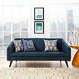 Modern Contemporary Urban Design Living Lounge Room Sofa, Navy Blue, Fabric