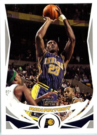 Amazon.com  2004 05 Topps Basketball Card  199 Ron Artest Indiana ... 9121643f1