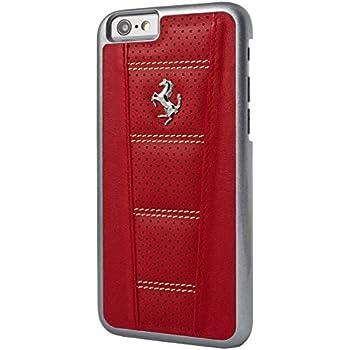 bf77c47983fa32 Amazon.com  Ferrari 458 Perforated Leather Hard Case for iPhone 6 6S ...