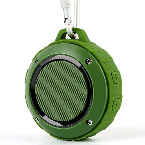 Outdoor Waterproof Bluetooth Speaker,Kunodi Wireless Portable Mini Shower Travel Speaker with Subwoofer, Enhanced Bass, Built in Mic for Sports, Pool, Beach, Hiking, Camping (Green)