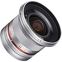 Samyang SY12M-E-SIL 12mm F2.0 Ultra Wide Angle Lens for Sony E Cameras, Silver