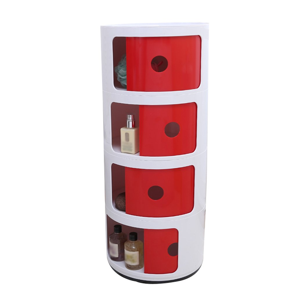 C Nightstands Plastic Lockers Bedroom Nightstand Round The Corner Cabinet Multifunctional Storage ( color   A )