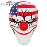 2573 NEWHot Sale PAYDAY Dallas MASK for Helloween Prop Heist joker clown Cosplay costume