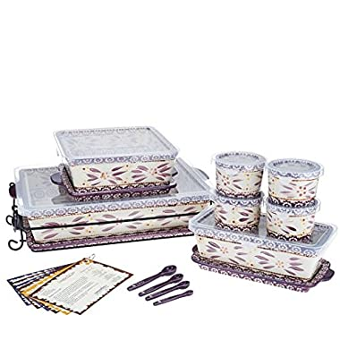 Temp-tations Old World 16-pc Essential Oven-to-table Set - Eggplant