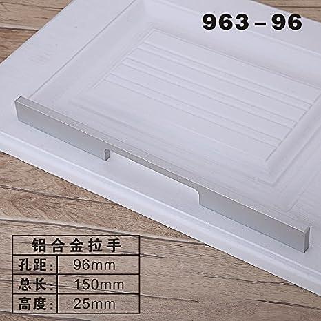 DaMonicv Armario de aleación de aluminio minimalista moderno empuñadura puertas de armarios archivadores de zapata en el cajón del armario de la cocina ...