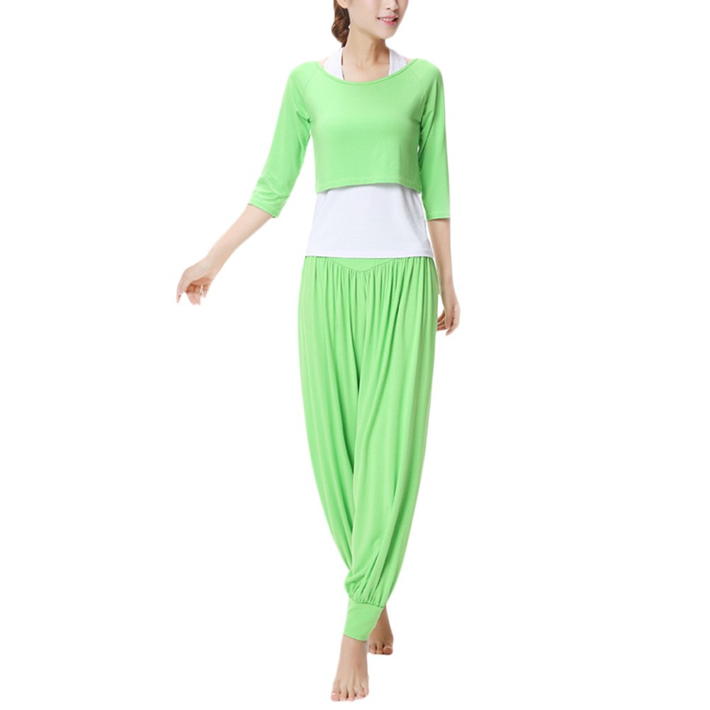 Zhhlaixing Womens Yoga Three-Piece Set Outfits Fashion Solid Color Fitness Sportswear