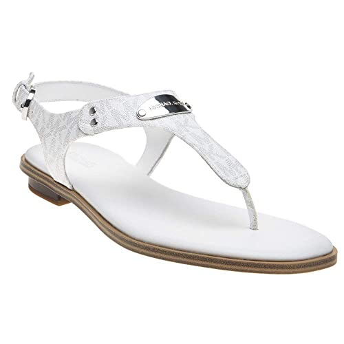 Michael Kors Plate Toe Post Mujer Zapatillas Blanco: Amazon.es: Zapatos y complementos