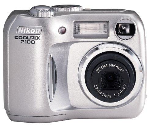 Nikon Coolpix 2100 2MP Digital Camera w/ 3x Optical Zoom (Megapixels Nikon 2 Coolpix)