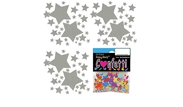 Mezcla de confeti – Galaxy Stars Plata – 4 bolsas de media oz (2 ...