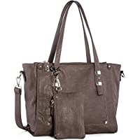 Wishesgem Top-Handle Fashion Hobo Tote Bags PU Leather Shoulder