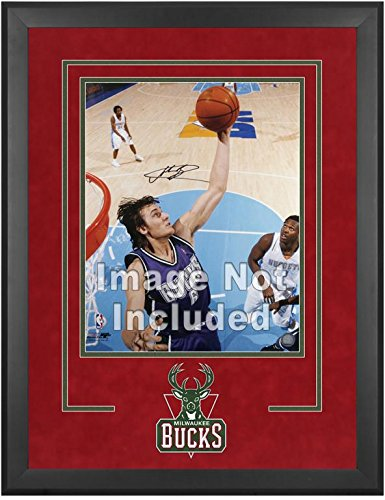 Milwaukee Bucks Deluxe 16'' x 20'' Frame - Fanatics Authentic Certified - NBA Other Display Cases by Sports Memorabilia