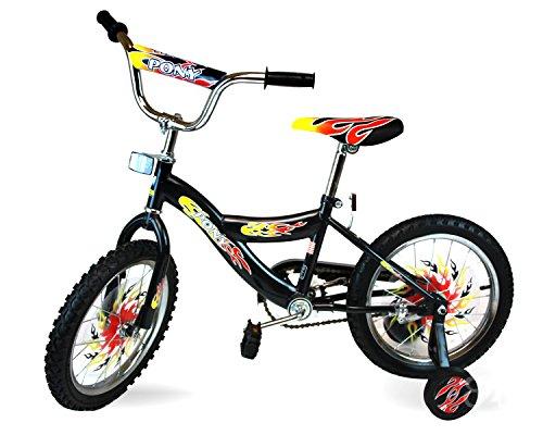 Awesome Kids Fire Flame 16-inch Rock It Bike (Black)