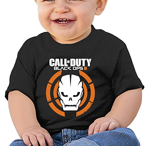 [DVPHQ Baby's Call Logo Duty Black Ops Tees Little Unisex Black Size 12 Months (6-24 Months)] (Dwayne Johnson Baby Costume)