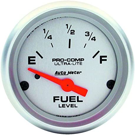Auto Meter 4319 Ultra-Lite 2-1//16 Electric Fuel Level Gauge Empty//Full, 52.4mm