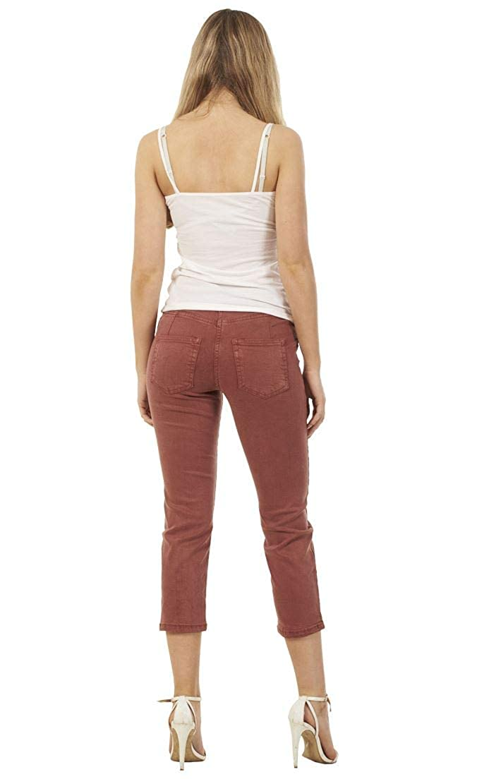 Ex Highstreet Ladies Soft Touch Pants Crop Summer Stretch 3//4 Summer Straight Cropped Jeans