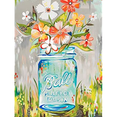 Wheatpaste Art Collective Ball Perfect Mason Jar by Katie Daisy Posters That Stick Wall Decal, 18 by 24-Inch