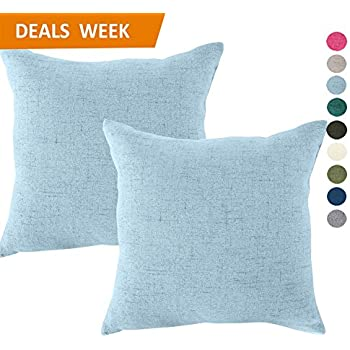 Amazoncom TangDepot Cotton Solid Throw Pillow Covers 20 x 20
