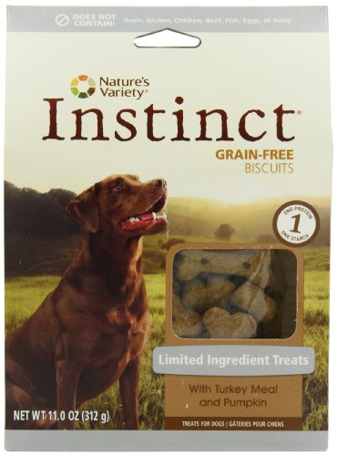 Nature's Variety Instinct Limited Ingredient Diet Biscuit Treats with Turkey Meal and Pumpkin, 11 Ounce, My Pet Supplies