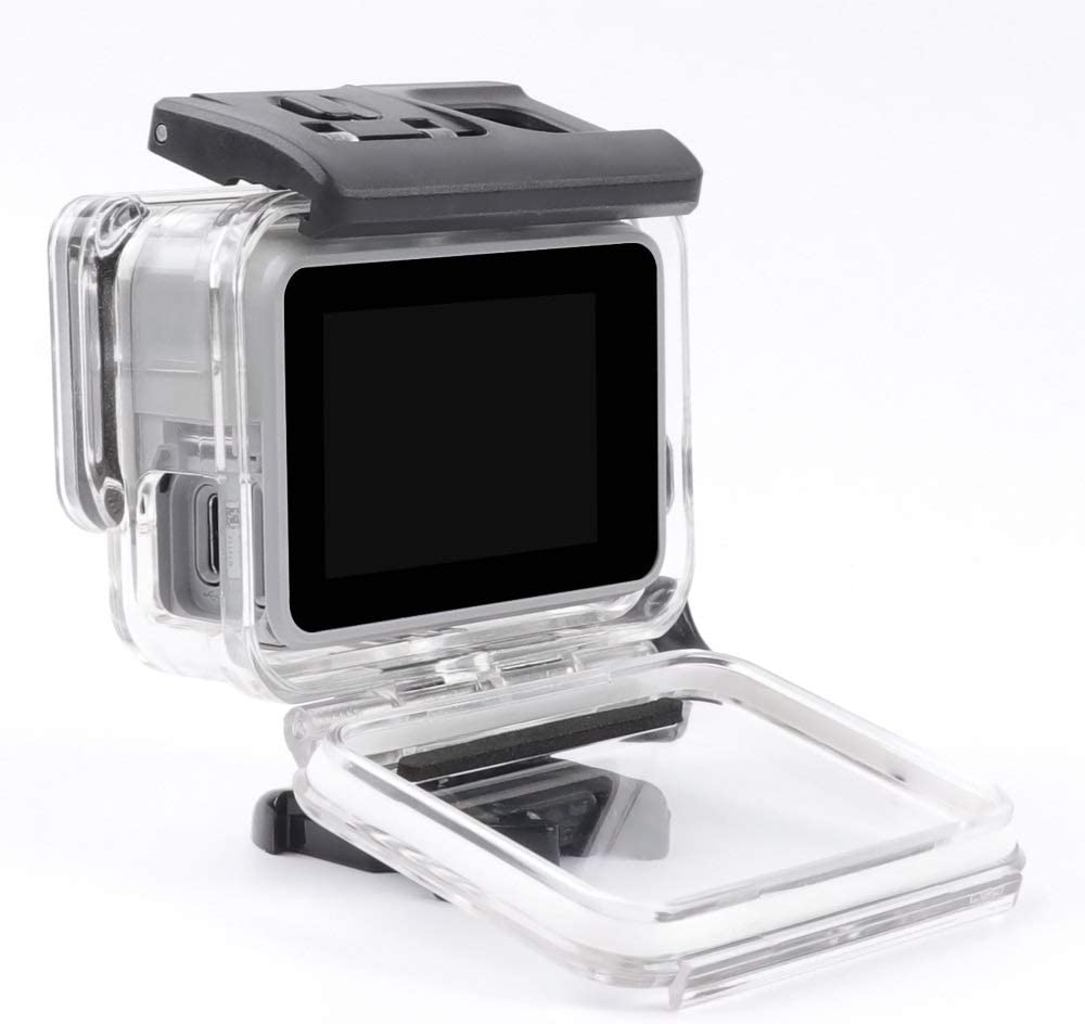 Premium Material XIAOMIN for GoPro HERO7 White//Silver Skeleton Housing Side Hollow Protective Case with Buckle Basic Mount /& Screw Color : Transparent Transparent