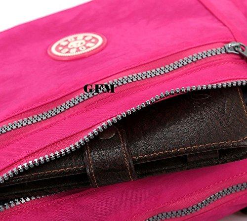 GFM Nylon Dusche/Regen beständig Kreuz Körper Tasche für Urlaub oder den täglichen Casual Gebrauch. Style 2. - Army (32GHJTN) S4deIROCY