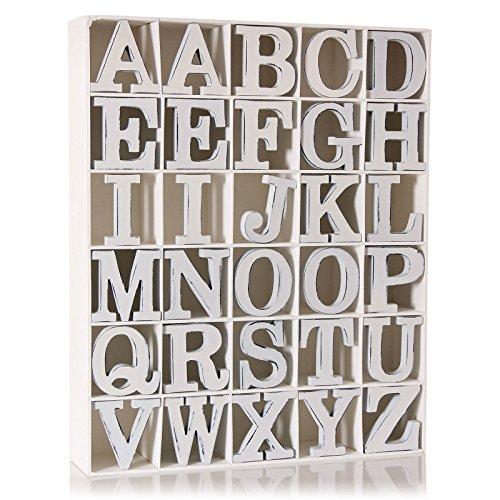 Vintage White Wooden O Letter