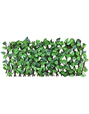 Per Newly 40cm Expanding Trellis Fence Retractable Fence Artificial Faux Ivy Leaf Decorative Fence, UV Protection Privacy Screen Garden Fence for Indoor Outdoor Backyard Home Decor