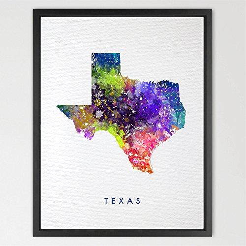 - Dignovel Studios 8X10 Texas map USA States map watercolor print kids art home décor nursery décor wall art print children's room décor wall hanging playroom décor N255