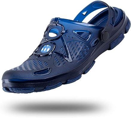 Sabots Homme Clogs Jardin Cuisine Mule L/éger Chaussures Plage Reglable Sandale Confort Respirant Antiderapant Noir Taille 47