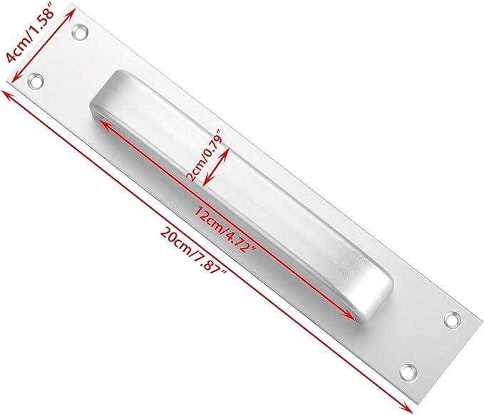Ignpion Lot de 2 poign/ées de porte coulissantes rectangulaires en alliage daluminium