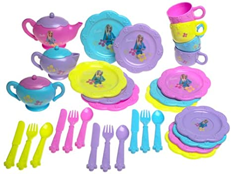 Barbie Dinnerware Set  sc 1 st  Amazon.com & Amazon.com: Barbie Dinnerware Set: Toys u0026 Games