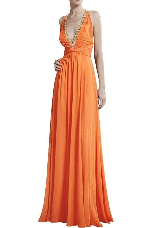 La_mia Braut Damen Olive Gruen Chiffon V-ausschnitt Abendkleider ...