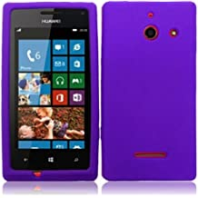 LF Purple Hard Case Cover, Lf Stylus Pen and Wiper For StraightTalk, Net 10 Huawei Ascend W1 H883G
