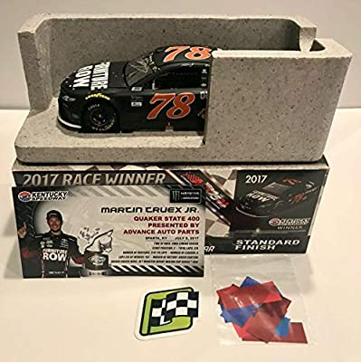 2017 Martin Truex Jr Furniture Row Kentucky Race Win Signed 1/24 Diecast Car - Autographed Diecast Cars