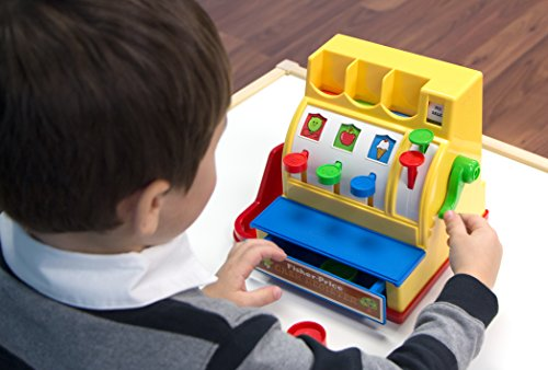 51H7Z1sY6IL - Fisher-Price Classic Toys - Retro Cash Register - Great Gift for Girls and Boys - Best for Babies and Toddlers 18 Months to 2 Years Old