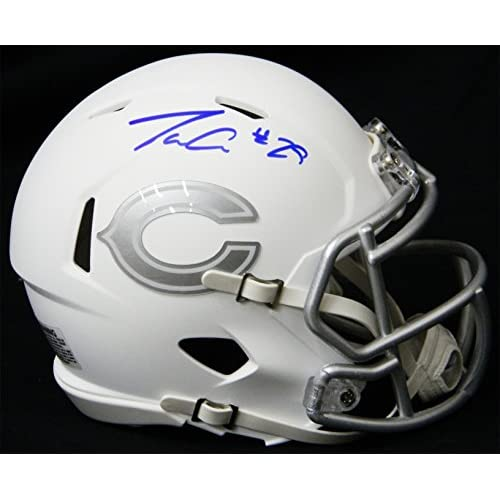 a97c3760369 Tarik Cohen Signed Chicago Bears White Ice Riddell Speed Mini Helmet ...