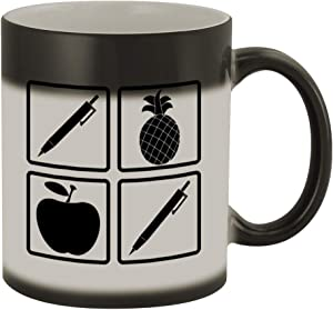 Pen Pineapple Apple Pen #288 - Funny Humor Ceramic 11oz Color Changing Coffee Mug Cup